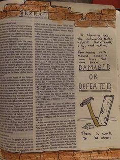 Ezra title page Bible Study Journal, Journal Pages, Art Journaling, Journals, Bible Art, Scripture Verses, Illustrated Faith, Walk By Faith, Power Of Prayer