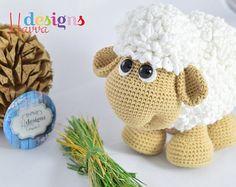 PATRÓN  lindos ovejas Amigurumi Crochet