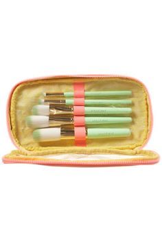 Topshop Louise Gray Brush Set - love the mint green color