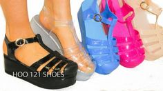 Platform Wedge Jelly Ballet Flats Strappy Ankle T Strap Sandal Jellies #NatureBreeze #PlatformsWedges