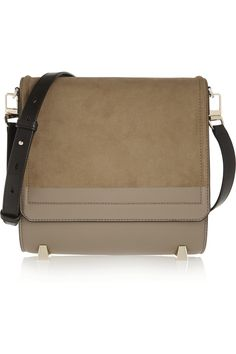 ALEXANDER WANG Chastity suede and leather shoulder bag £312.75 http://www.theoutnet.com/products/657088
