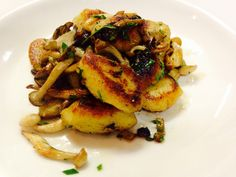 Pan seared gnocchi with wild mushrooms