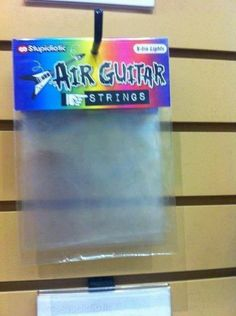 Now for 19.95 you can have these amazing sounding rock god like air guitar strings. But wait theres more, particapate now and recieve a second and third pair absolutely free of charge. That's right, 3 sets of the best air guitar strings ever made. Call now.... Lmao