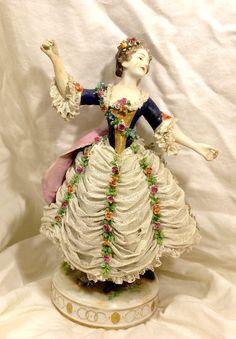 Dresden Porcelain Manufactory (Germany) — an idea for half doll dress.