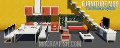 Adds over 80 unique Furniture to Minecaft Minecraft House Plans, Easy Minecraft Houses, Minecraft Mods, Minecraft Garden, Minecraft Crafts, Minecraft Stuff, Minecraft Ideas, Minecraft Skins, Minecraft Buildings