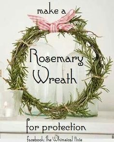 Kitchen Apothecary~ Herbal Soup Wreaths Rosemary wreath for protection Wiccan Decor, Wiccan Crafts, Pagan Yule, Christmas Wreaths, Christmas Crafts, Kitchen Witchery, Herbal Magic, This Is A Book, Wreaths