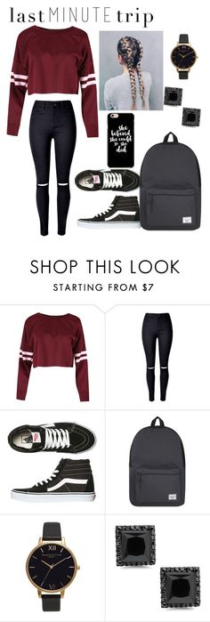 """""""heey!"""" by altxya ❤ liked on Polyvore featuring Vans, Herschel Supply Co. and Olivia Burton"""