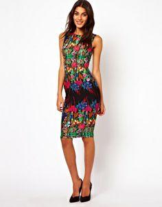 Image 4 ofASOS Reflection Floral Sleeveless Midi Dress