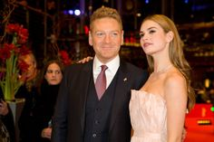 Kenneth Branagh and Lily James at event of Cinderella (2015)