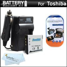 Battery And Charger Kit For Toshiba Camileo BW10 Waterproof HD Video Camera Includes Extended Replacement (900 maH) PX1686 Battery + Ac/Dc Travel Charger + MicroFiber Cloth + More (Electronics)  http://www.amazon.com/dp/B005LRSJ46/?tag=goandtalk-20  B005LRSJ46
