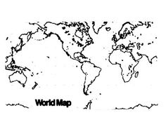 World Map Picture Coloring Page : Kids Play Color