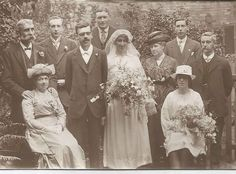 Such a beautiful clear photo of this lovely #Wedding Those #bouquets are just so pretty, with such an assortment of different #flowers #Photographer from #Birmingham #WestMidlands #OldPhotos #FamilyHistory  #FashionHistory #Fashion #weddingdress #weddingphotography #blackandwhitephoto #weddinginspiration #weddingphotographer #WeddingHats #Hats