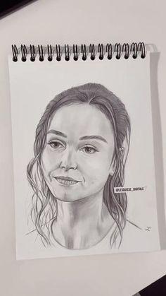 Portrait Au Crayon, Pencil Portrait Drawing, Portrait Sketches, Drawing Portraits, Easy People Drawings, Drawing People, Easy Drawings, Dark Art Drawings, Pencil Art Drawings