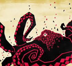 """""""Polygonal Octopus"""" by Aaron Hatch Octopus Illustration, Type Illustration, Illustrations, Red Octopus, Octopus Art, Octopus Tentacles, Octopus Pictures, Octopus Painting, Illustration Techniques"""