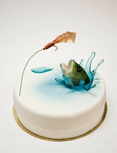 Birthday cake male men father 35 Ideas for 2019 - Birthday Cake Blue Ideen Birthday Cakes For Men, Fish Cake Birthday, Man Birthday, Birthday Ideas, Husband Birthday, Happy Birthday, Fondant Flowers, Cake Decorating Tips, Cookie Decorating