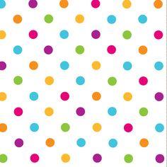 Serviettes en papier à pois multicolores by My Sweet Boutique