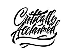 Critically Acclaimed typography #logo #design #inspiration #typography #calligraphy