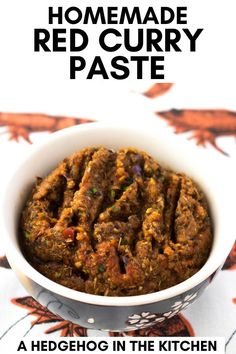 If you love Thai food, then you will love this homemade red curry paste. It's easy to make and will take your curries to the next level. French Vegetarian Recipes, Easy Irish Recipes, Healthy Eating Recipes, Lunch Recipes, Easy Dinner Recipes, Italian Recipes, Vegan Recipes, Asian Chicken Recipes, Thai Recipes