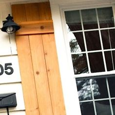Custom wood shutters can add a lot of character to your home without a lot of cost. Create your own with this easy DIY.