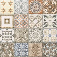 45x45 cm Porcelain Moroccan Style Floor & Wall Patchwork Tiles
