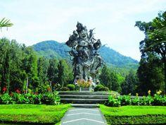 Monument of the Rawana in Bali Botanical Garden