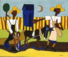 William H. Johnson, Sowing, 1940, oil