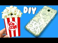 DIY PHONE CASES | POPCORN & RAINDROPS - YouTube