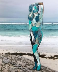 Travel photographs enhanced by vibrant and playful painting by Madeleine Gross   #art #beach #canada #collage #drawing #fineart #illustration #madeleinegross #mixedmedia #ocean #painting #photomontage #toronto #travel #travelphoto