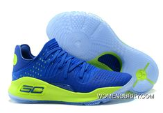 Under Armour Curry 4 Low Royal Blue Green Hot Sell Super Deals 90f546392