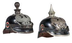German WWI Prussian Pickelhauben Helmets