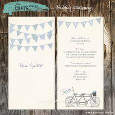 Tandem Bike Wedding Menu von alacartepaperie auf Etsy