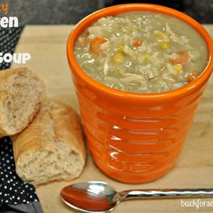 Easy Crock Pot Creamy Chicken and Rice Soup. Titus loved this and in my house when a 3 year old asks for soup, the recipe is a keeper for sure.