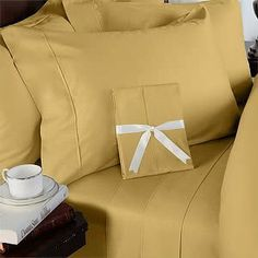 """600 Thread Count Double Siberian Goose Down Alternative Comforter [600FP, 50oz] with 100% Egyptian Cotton Plain - Solid Damask Cover - Gold Set Includes Bed Duvet Cover Sheet with TWO Shams (Pillowcases) made of 600 Thread Count 100% Long Staple Egyptian Giza Cotton with Swiss Sateen Finishing by De Luxe Linens. $224.99. Double Duvet cover measures 90"""" W x 92"""" L and includes two standard shams 20x26"""" each.. DOWN ALTERNATIVE Comforter, 600fp, 50oz, Allergy free.Box-stitching d..."""