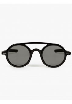 MYKITA X Damir Doma Black Rounded Acetate DD03 Sunglasses