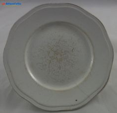 H 942 PIATTO VECCHIA MANIFATTURA VERBANUM STONE IN CERAMICA BIANCA - http://www.okaffarefattofrascati.com/?product=h-942-piatto-vecchia-manifattura-verbanum-stone-in-ceramica-bianca