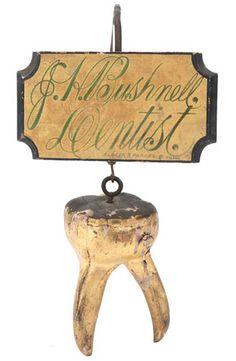 Antique dentist signage. Pretty cool! #DeltaDental