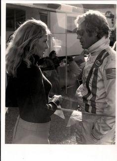 Elga Andersen with Steve McQueen