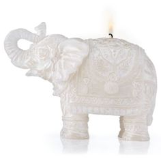 $29.95 5W x 6.25H Carved Elephant Candle from Z Gallerie