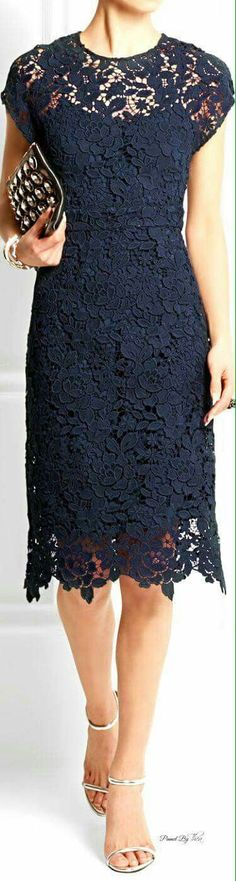 blue lace dress closet ideas women fashion outfit clothing style apparel J. Trendy Dresses, Elegant Dresses, Cute Dresses, Formal Dresses, I Dress, Dress Outfits, Party Dress, Fashion Dresses, Dress Lace