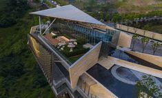 Urban Architecture, Contemporary Architecture, Deconstructivism, Steel Columns, Main Entrance, Exhibition Space, Steel Structure, Architectural Elements, Open Concept