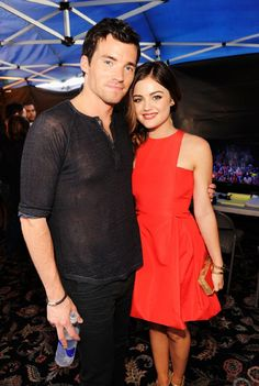 Lucy Hale and Ian Harding at event of Teen Choice Awards 2012