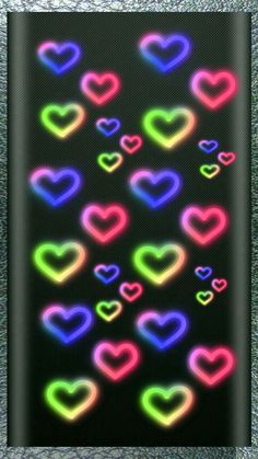 By Artist Unknown. Wallpaper Edge, Phone Background Wallpaper, Bling Wallpaper, Pretty Phone Wallpaper, Heart Wallpaper, Heart Background, Cellphone Wallpaper, Glittery Wallpaper, Colorful Wallpaper