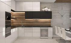 32 Stunning Modern Contemporary Kitchen Cabinet Design - Home Design Contemporary Kitchen Cabinets, Farmhouse Kitchen Cabinets, Kitchen Cabinet Design, Kitchen Cabinetry, Kitchen Layout, Interior Design Kitchen, Kitchen Backsplash, Kitchen Modern, Kitchen Island
