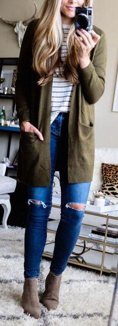#winter #fashion / olive coat