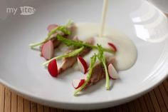Smoked Herring with Buttermilk and Turnip Cream Soup, Radish, Poppy Seed Oil and Hemp Seeds
