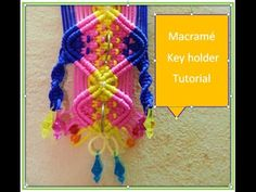 Macrame key holder complete tutorial. - YouTube