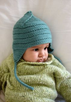 Baby Pullover in Hellgrün warm Winter Baby Hat Knitting Pattern, Baby Hats Knitting, Knitting For Kids, Knitting Projects, Knitted Hats, Baby Patterns, Knit Patterns, Knit Crochet, Crochet Hats