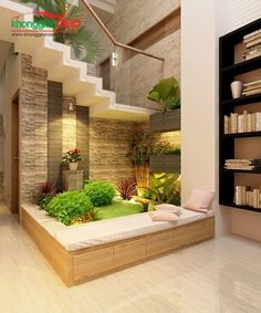 15 Perfect Indoor Garden Design Ideas For Fresh Houses home design Home Garden Design, Interior Garden, Interior And Exterior, Home And Garden, Garden In House, Interior Design Living Room, Living Room Designs, Interior Design Plants, Garden Office