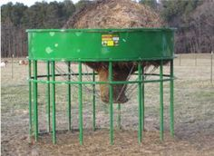 Round bale feeder for sheep and goat
