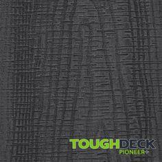 Anthracite Grey Wood Grain WPC Decking Board - Pioneer+ Wpc Decking, Composite Decking, Pioneer Decks, Wood Grain Texture, Grey Wood, Surface, Boards, Planks, Grey Hardwood